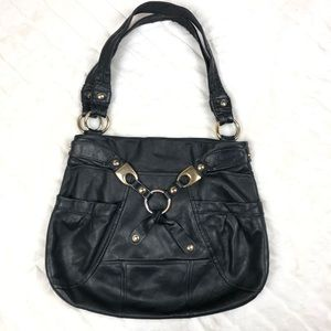 B. Makowsky Black Leather Purse.